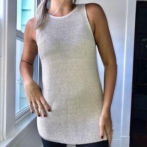 White House Black Market Metallic Sweater